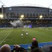 010-20181104_Cardiff Arms Park-Cardiff Blues vs Zebre Rugby Match-2nd half action-Cardiff Blues kicking off at start of 2nd half