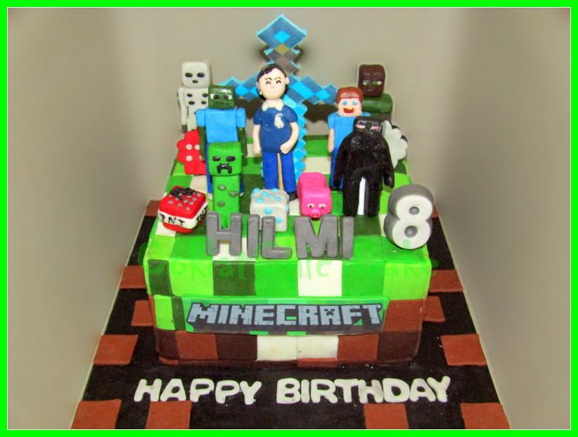 Cake Minecraft HILMI 18 cm