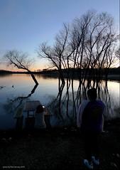 phone snaps at the lake