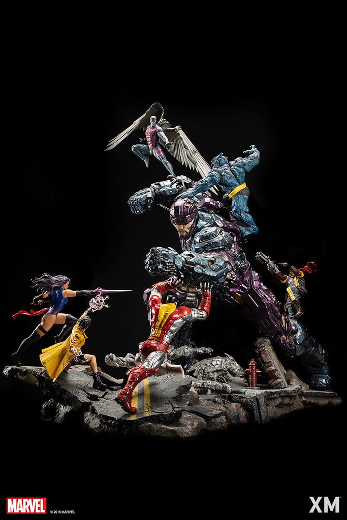 壓倒性的超狂存在感!! XM Studios Epic Diorama Series 系列 Marvel Comics【X戰警 VS 哨兵機器人】X-Men VS Sentinel 1/6 比例全身場景雕像作品
