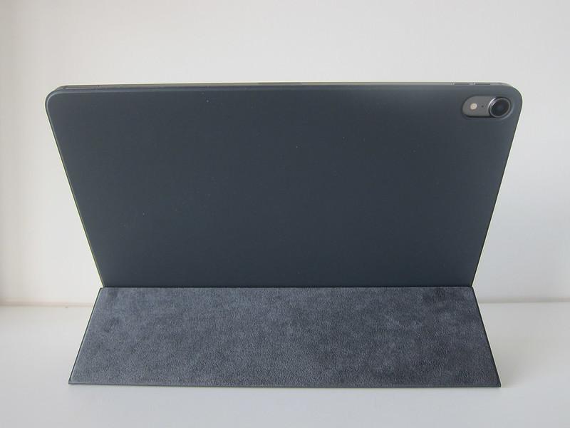 Apple iPad Pro 12.9-inch (3rd Generation) Smart Folio (Charcoal Grey) - With iPad Pro - Standing Back