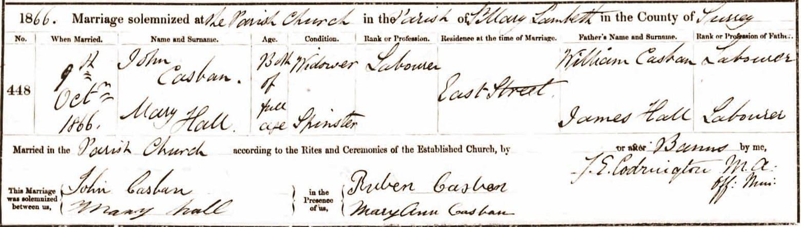 John Casban Mary Hall M Lambeth 1866 (1)