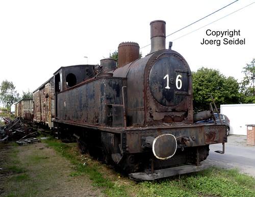 BE-9200 Baasrode Stoomtrein Dendermonde-Puurs Dampflok 16 (Tubize 1948) im August 2018