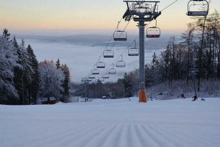 Monínec: první lyžování v Česku 17. listopadu
