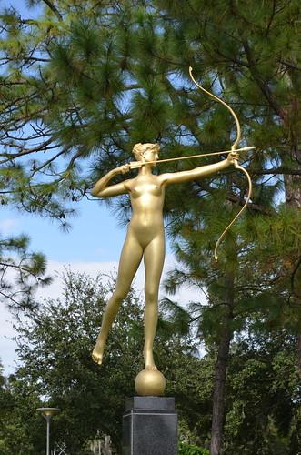 Sculpture - Diana (Modeled 1886; Cast 1985) by Augustus Saint-Gardens