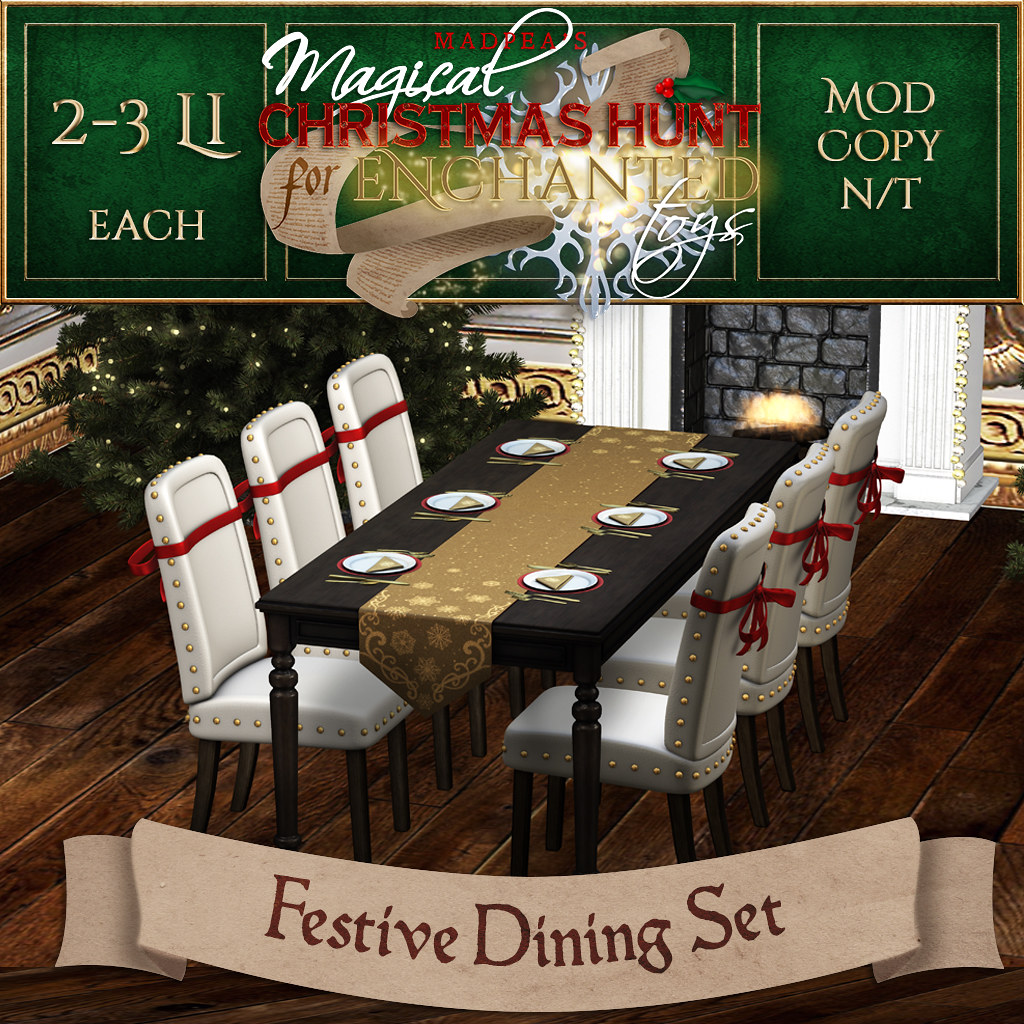 Festive Dining Set MadPea Christmas Hunt Premium Prize!