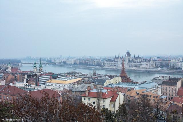 Budapest dall'alto del Bastione dei Pescatori