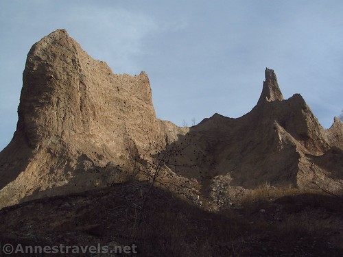 Some of the badland formations at Chimney Bluffs State Park, New York