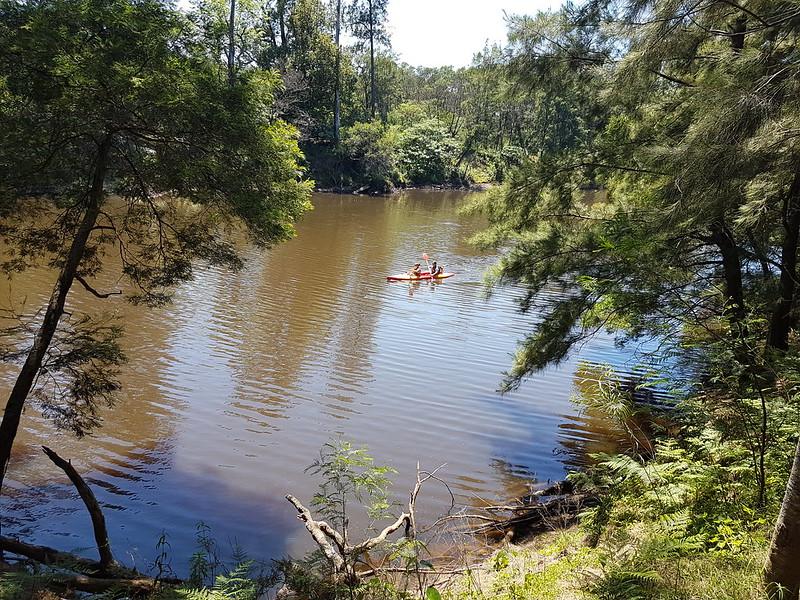 The Kangaroo River at Coolana - sydney bushwalkers property in the Kangaroo Valley