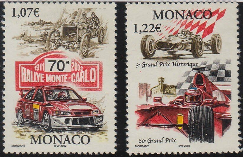Monaco - Scott #2240a, 2240b (2002)