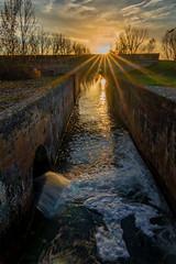 Canal de Castilla-Esclusa 4 desde la compuerta