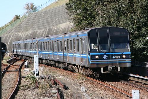 Yokohama Municipal Subway 3000N series in Kaminagaya.Sta, Yokohama, Kanagawa, Japan /Nov 23, 2018