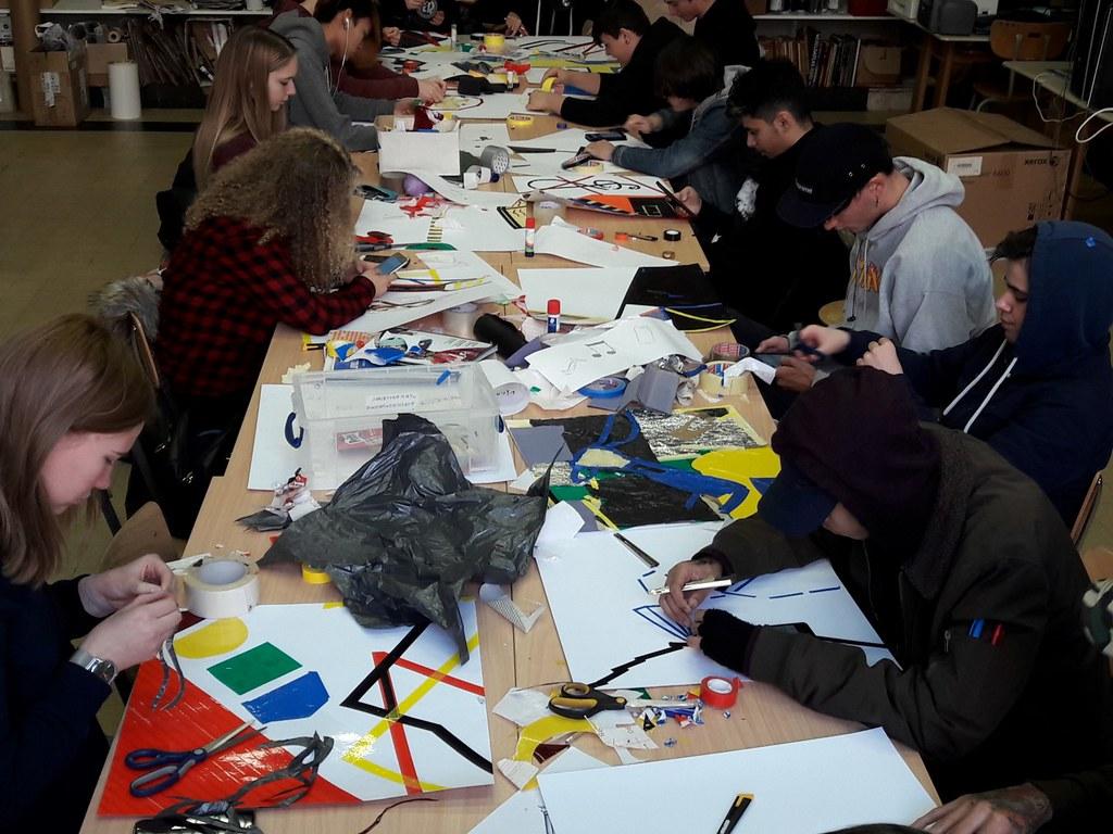 sessie 2 ateliersDKO schilderen met tape (15)
