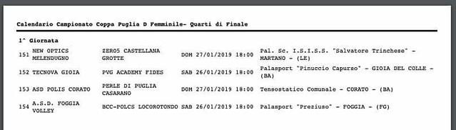 Quarti di finale Coppa Puglia D 2019