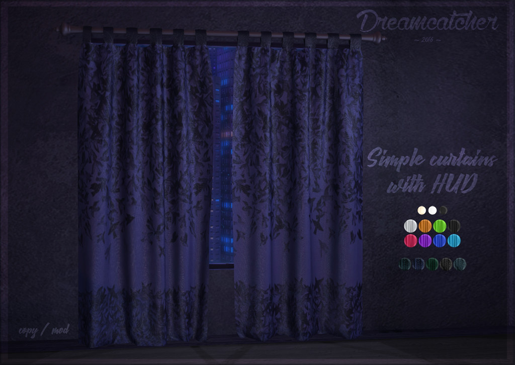 +Dreamcatcher+ Simple curtains with HUD @ Up! - TeleportHub.com Live!