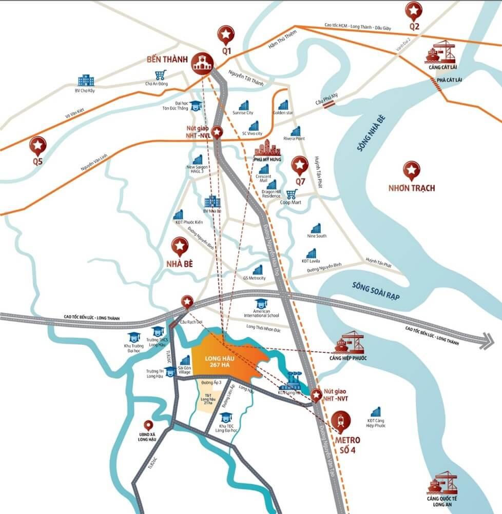 Liên kết vùng thuận tiện của khu đô thị T&T Millennia City.