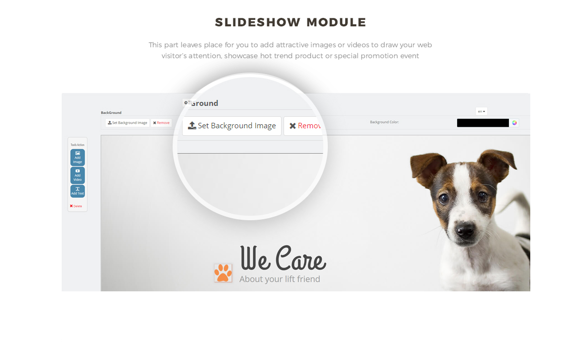 slideshow module - PrestaShop Pet Shop Theme