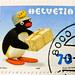 great stamp Helvetia 70c Pingu (cartoon character by Otmar Gutmann 1937-1993; Pinguin, manchot, pingvin, penguen, πιγκουίνος, pingwin, пингвин, pinguino, ペンギン, pingüino, 企鹅, mörgæs, tučniak, 펭귄) Swiss Schweiz Switzerland stamp timbre Helvetia timbre-poste by stampolina, thx for sending stamps! :)