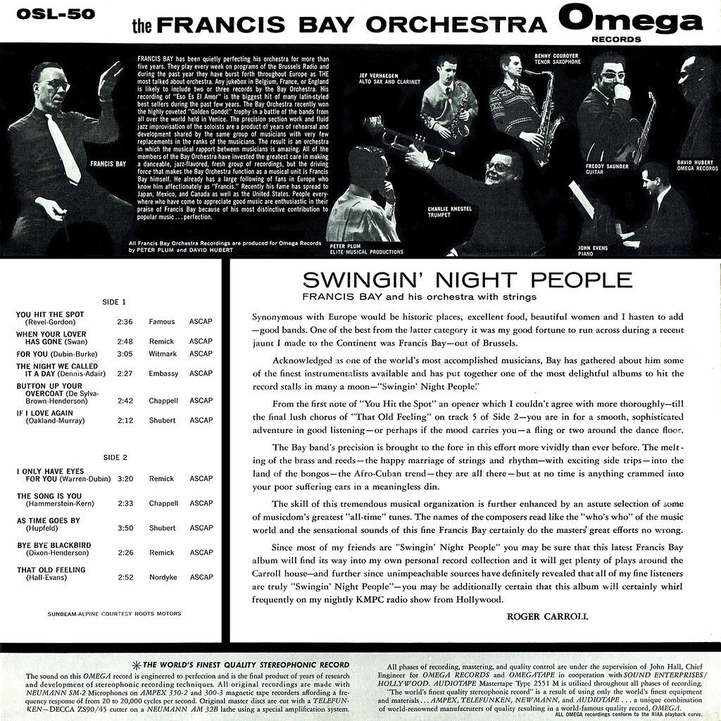 Francis Bay - Swingin' Night People