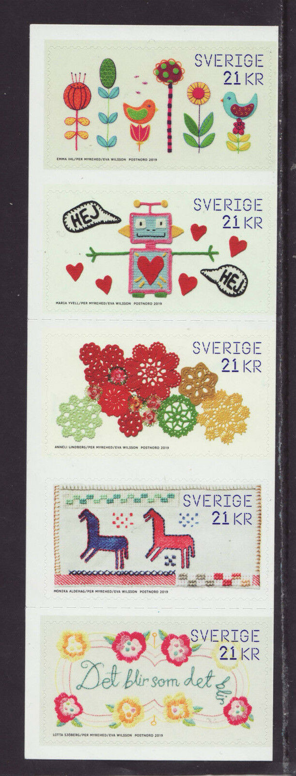 Sweden - The Power of Handicrafts (January 10, 2019) booklet pane of 5