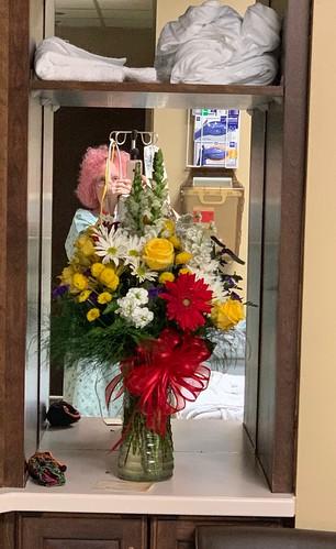 Pole Dancer & Flowers