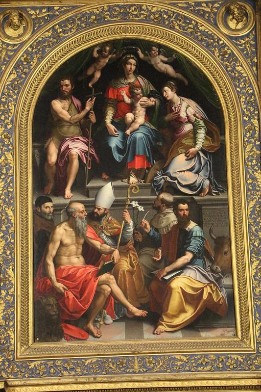 Girolamo_siciolante_da_sermoneta,_madonna_col_bambino,_santi_e_il_committente_matteo_malvezzi,_1548,_02