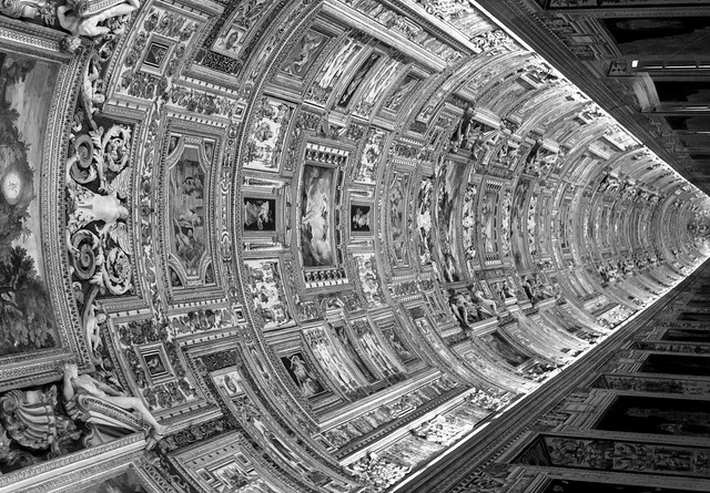 Ceiling Gallery of Maps - Vatican Mueseum - Rome