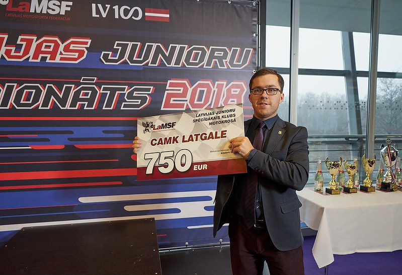 Latvijas Junioru čempionāta motokrosā apbalvošanas ceremonija 2018