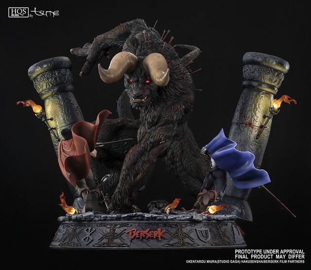 鷹之團雙雄迎戰不死的傳說!! Tsume-Art HQS + 系列《烙印勇士》索特, 凱茲&古力菲斯 Zodd, Guts & Griffith 全身場景雕像作品