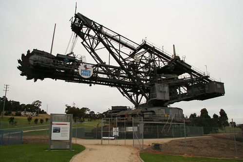 Dredger 21 outside PowerWorks in Morwell