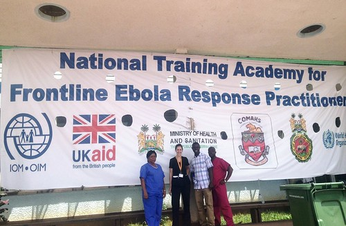 Emily at Ebola training. From #VolunteerAbroadBecause You Can Learn From Locals