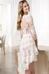Peinados desenfadados para vestidos de novia Cortos (12)