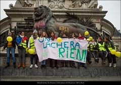Paris, manifestation du 06 janvier 2019 des Femmes Gilets Jaunes