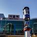 서울역 정문 앞 기업은행 시계탑