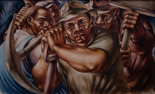 Charles White, Untitled (Four Workers), 1940 10/5/18 #moma #museummodernart #artmuseum