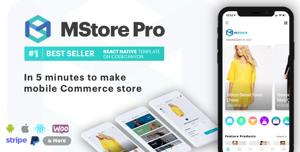 MStore Pro v3.6.2 – Complete React Native template for e-commerce