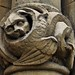 Coiled serpent, c1120 - west façade, Rochester Cathedral, Rochester, Kent, England.
