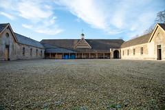 Badminton stables in winter
