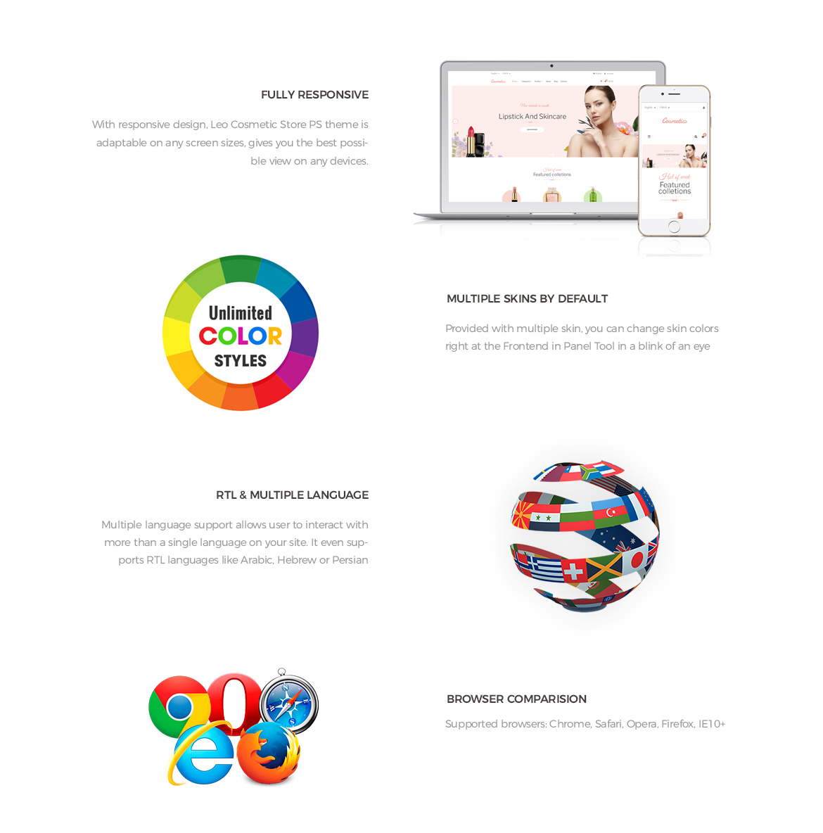 powerful prestashop framework - Cosmetic Store Prestashop 1.7 theme - Cosmetic and Beauty Store - free install support