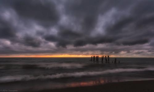 2018 fiftypointconservationarea groynes hamilton lakeontario sky sunrise grimsby ontario canada ca img7806e canon6d longexposure
