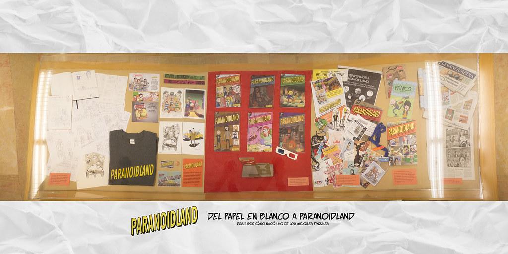 Exposición: Del papel en blanco a Paranoidland - Vitrina