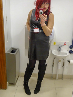 Joanie Leather Dress