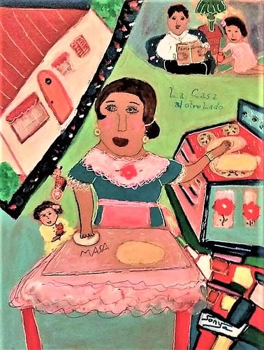 La Casa al Otro Lado (The House across the Way). From Art, Memories, and Poetry: La Bolsa–The Purse, by Sonya Gonzalez