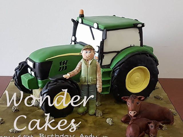 Tractor Cake by Wonder Cakes