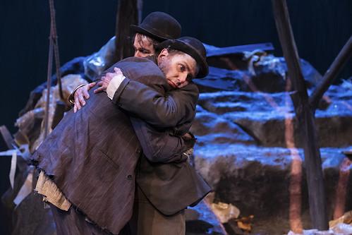 Pontus Plænge och Gustaf Appelberg som Estragon och Vladimir