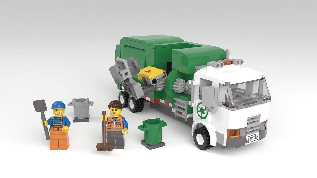 Moc Automated Side Loading Garbage Truck Lego Town Eurobricks Forums
