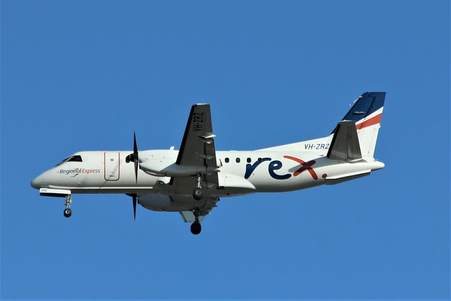 VH-ZRZ Saab 340 REX, Canon EOS 600D, Canon EF 70-300mm f/4-5.6 IS USM