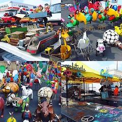跳蚤市場騎呢古怪嘢多,一大堆廢鐵系列產品中,最喜歡還是人名牌、圖案等飾品,掛上牆尚算有點藝文味咁,但並無入手收藏。 【浪遊旅人】http://bit.ly/1zmJ36B #backpackerjim #local #fleamarket #market #rosebowl #pasadena #losangeles #usa #america