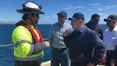 En amplio recorrido por el Sur, Danilo supervisa avances Presa Monte Grande, planta de productores de mango y Punta Catalina