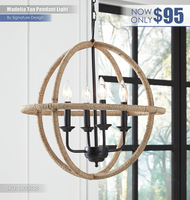 Madelia Tan Pendant Light_L000838